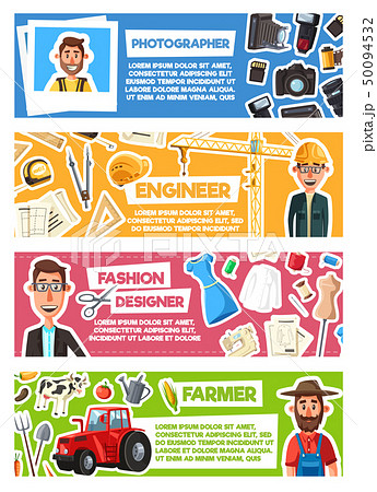 Photographer, fashion designer, farmer or engineer 50094532
