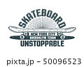 Skateboard logo in the style of hand-drawn hipster print 50096523