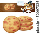 Cookies with berries illustration. Cartoon vector icon 50097326