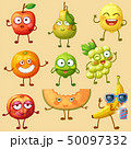 Funny fruit character isolated on white background 50097332