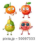 Funny fruit character isolated on white background 50097333