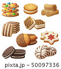 Set of cookie icons. Cartoon vector illustration 50097336