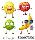 Funny fruit character isolated on white background 50097350
