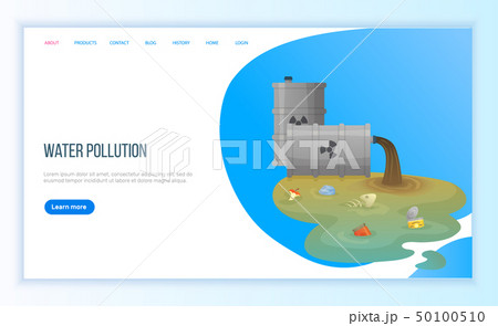 Trash from Pipe, Water Pollution, Tubes Vector 50100510