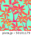 red Seamless tropical palms pattern. Summer 50101179