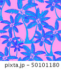 blue Seamless tropical palms pattern. Summer 50101180