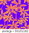 orange Seamless tropical palms pattern. Summer 50101182