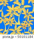 yellow orange Seamless tropical palms pattern. 50101184
