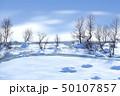 冬日 冬の雪面 50107857