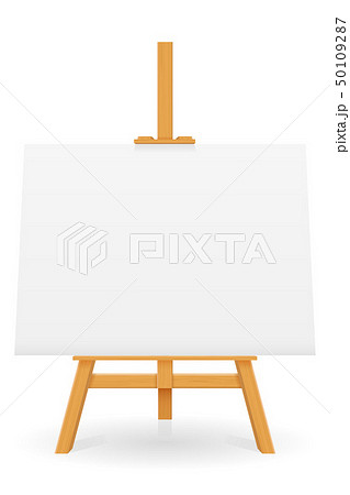 wooden easel for painting and drawing with a blank 50109287