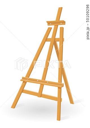 wooden easel for painting and drawing vector 50109296