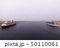 スカイウォークから大型客船2隻を望む 50110061