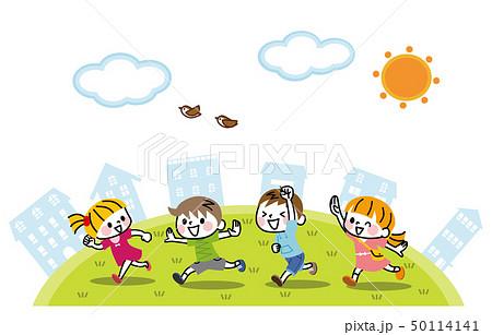 走る子供たち 50114141