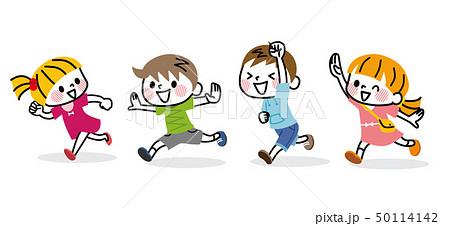 走る子供たち 50114142