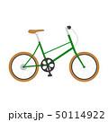 自転車のイラスト。スタイリッシュな緑色。 50114922