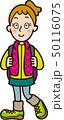 ハイキングをする女性 50116075
