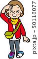 ハイキングをする女性 50116077