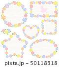 水彩 バラ フレーム 50118318