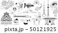 日本線画イラストセット 50121925