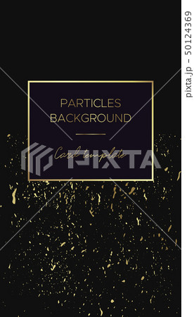 Card template with gold frame and Grunge texture 50124369