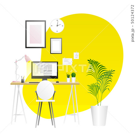 Workplace vector background. Trends illustration 50124372