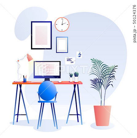 Workplace vector background. Trends illustration 50124376
