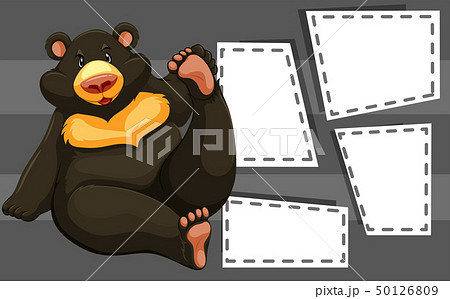 Bear on note template 50126809