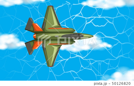 Airplane from aerial view 50126820