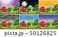 Set of farm landscape 50126825