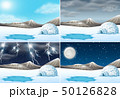 Set of winter landscape different weather 50126828