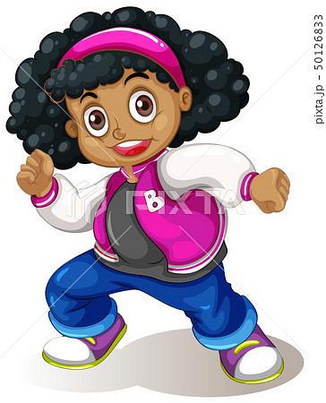 An african girl character 50126833