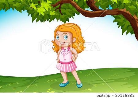Caucasian girl in nature 50126835