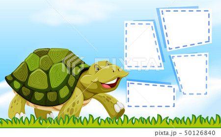 Turtle on note template 50126840