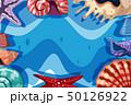海 海原 ひとでのイラスト 50126922