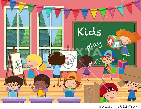 Many kids in the classroom 50127807