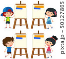 アート イーゼル 男の子のイラスト 50127865