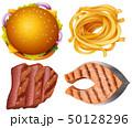 ハンバーガー 食 料理のイラスト 50128296
