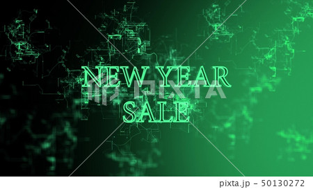 """Digital network. Sign """"New Year Sale"""" 50130272"""