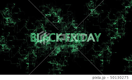 "Digital network. Sign ""Black Friday"" 50130275"