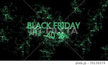 "Digital network. Sign ""Black Friday -40 percent"" 50130374"
