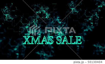 "Digital network. Sign ""Xmas Sale"" 50130404"