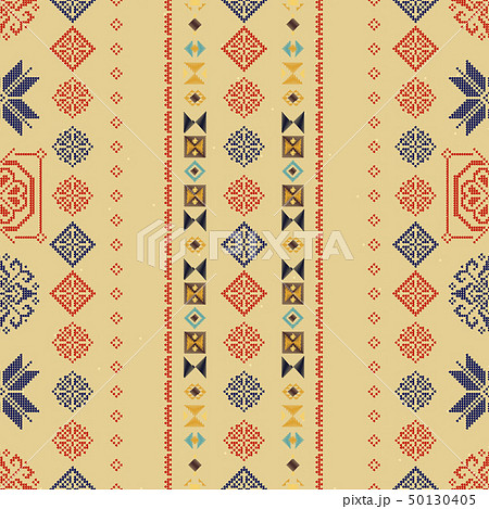 Traditional Norway Style Seamless Knitting Pattern. Abstract ethnic Background. 50130405