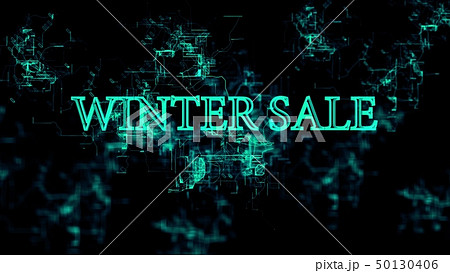 "Digital network. Sign ""Winter Sale"" 50130406"