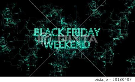 "Digital network. Sign ""Black Friday Weekend"" 50130407"