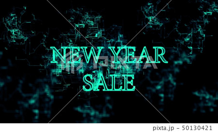 """Digital network. Sign """"New Year Sale"""" 50130421"""