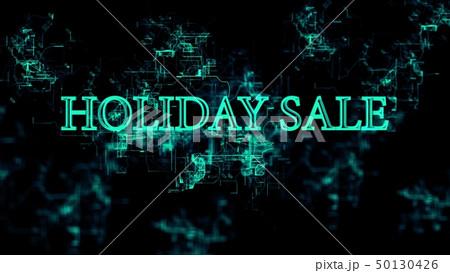 "Digital network. Sign ""Holiday Sale"" 50130426"
