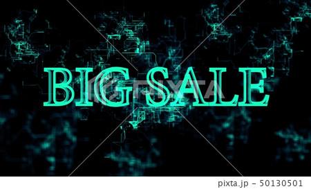 """Digital network. Sign """"Big Sale"""" 50130501"""