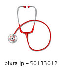 Health care concept with red stethoscope mockup isolated. Realistic stethoscope medicine equipment 50133012
