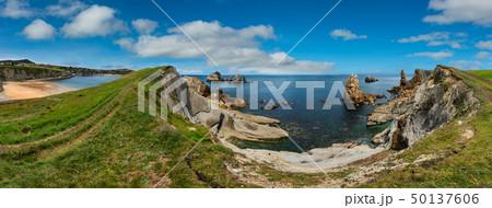 Atlantic Ocean coastline landscape. 50137606