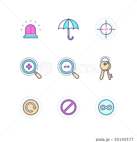 Security and data protection - modern line design style icons set 50140577